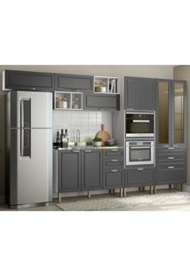 Cozinha Completa 8 Peças Americana Multimóveis 5661Mf Branco/Grafite