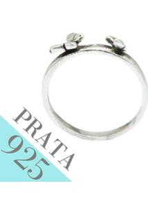 Anel Borboletas De Prata Kumbayá Joias - Feminino-Prata
