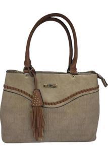 Bolsa Feminina Casual Importada Sys Fashion 9037 Caqui