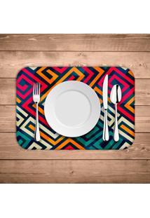Jogo Americano Wevans Linhas Abstratas Kit Com 6 Pã§S - Multicolorido - Dafiti