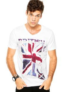 Camiseta Pacific Blue Britain Off-White
