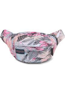 Pochete Shoulder Bag Jansport Fifth Avenue 2,5 Litros - Unissex-Branco+Salmão