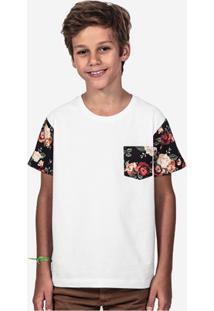Camiseta Hermoso Compadre Manga Estampada Masculina - Masculino-Branco