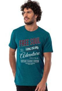 Camiseta Long Island Salinas - Masculino-Azul Turquesa