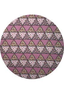Sousplat D'Rossi Para Prato Suporte De Mesa Decorativo Rosa Mosaico 30 Cm