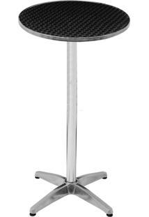 Mesa Redonda Em Alumínio 60Cm De Diâmetro Com Regulagem Altura - Mor 9118
