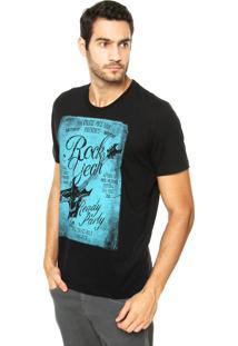 Camiseta Colcci Rock Yeah Preta