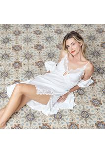 Camisola Joge Curta Off-White - Off-White - Feminino - Dafiti
