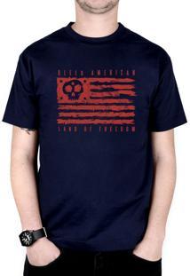 Camiseta Bleed American Land Of Freedom Azul-Marinho