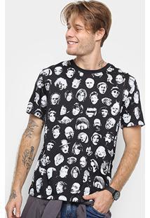 Camiseta Cavalera Back To The Roots Faces Masculina - Masculino