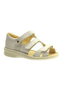 Sandalia Casual Doctor Shoes 380 Croco Branco