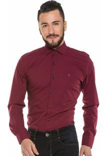 Camisa Hugo Rossi Maquinetado Vermelho