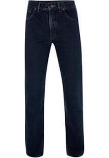Calça Jeans Tradicional Índigo Times Masculina - Masculino-Marinho