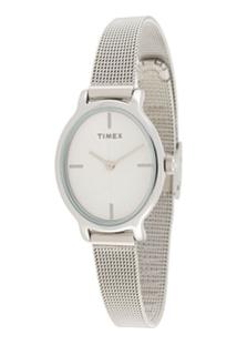 Timex Milano Oval Lds 24Mm Watch - Metálico