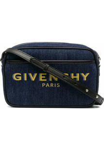 Givenchy Bolsa Transversal Com Estampa De Logo - Azul