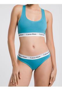 Top Nadador Modern Cotton - Azul Turquesa - G