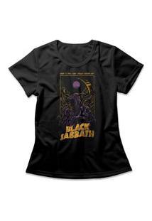 Camiseta Feminina Black Sabbath Preto