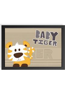 Quadro Love Decor Decorativo Infantil Baby Tiger