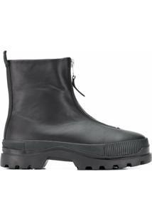 Diesel Ankle Boot Com ZãPer Frontal - Preto
