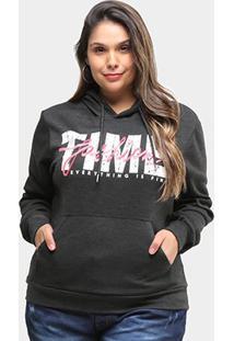 Moletom City Lady Time Fashion Plus Size Feminino - Feminino-Chumbo