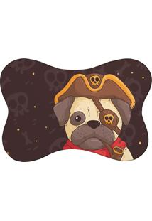 Tapete Mdecore Pet Pug Marrom 46X33Cm