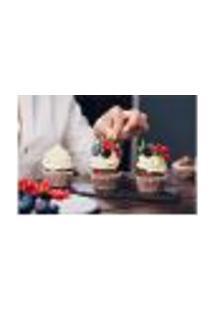 Painel Adesivo De Parede - Cupcakes - Confeitaria - 1167Pnp