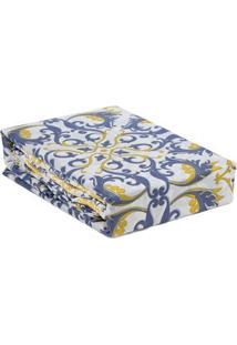 Jogo De Lençol Casal Duplo Corttex Color Art 150 Fios Azul