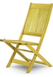 Cadeira Retangular Dobravel Acqualung+ S/Braco Amarelo 99Cm - 61637 - Sun House
