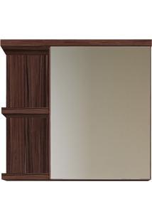 Espelheira Em Mdp Com Prateleira Ônix 63,5X68Cm Ameixa