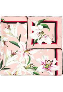 Dolce & Gabbana Lenço Estampado Lily - Rosa