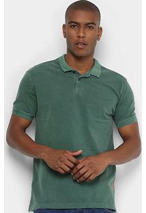 Camisa Forum Polo Estonada Masculina - Masculino-Verde Escuro