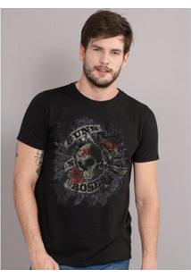 Camiseta Bandup Guns N' Roses Firepower - Masculino-Preto