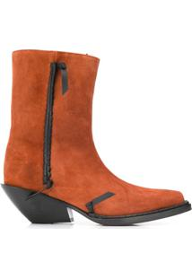 Acne Studios Ankle Boot Cowboy - Marrom
