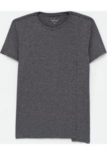 Camiseta Alongada Listrada Com Recorte