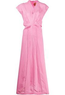Colville Vestido Reto Gola V - Rosa