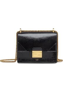 Fendi Small Kan U Shoulder Bag - Preto