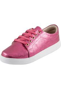 Tênis Di Stefanni Pink Craquelado