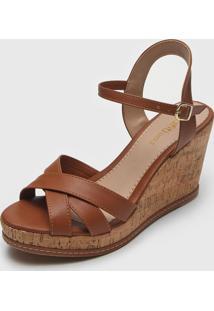 Sandália Dafiti Shoes Cortiça Caramelo