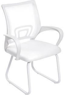 Cadeira De Escritã³Rio Tok- Branca- 87X61,5X49Cm-Or Design
