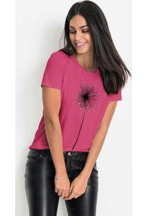 Blusa T-Shirt Com Estampa Pink