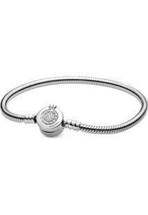 Bracelete Coroa Em O Brilhante Pandora - Bracelete Coroa Em O Brilhante Signature Pandora - 17 Cm