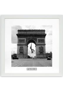 Quadro Paris Arco Kapos Branco 33X33Cm