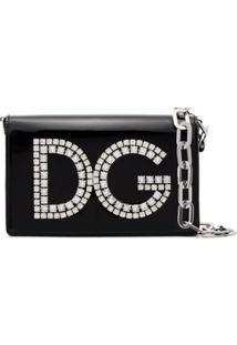 Dolce & Gabbana Bolsa Tiracolo 'Dg' Com Cristais - Preto
