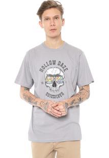 Camiseta Quiksilver Hollow Dayz Cinza