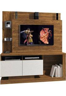 Estante Home Legacy - Para Tv Até 55 Polegadas - Mavaular Cor:Canion/Off White