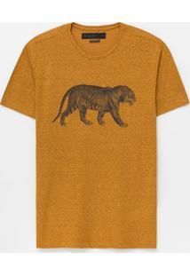 Camiseta Slim Com Estampa Tigre