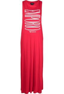 Emporio Armani Logo Tank Dress - Vermelho