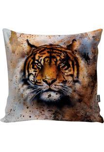 Capa De Almofada Savannah Tiger- Bege Escuro & Marrom