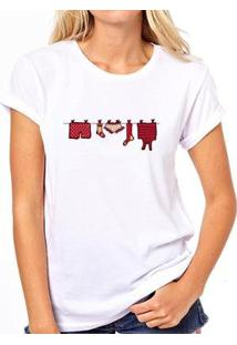 Camiseta Coolest Varal Feminina - Feminino-Branco