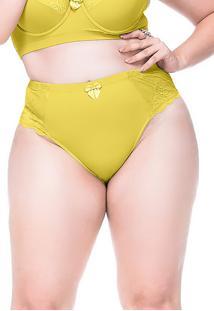 Calcinha Sempre Sensual Lingerie Vintage Amarelo